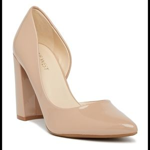 """Chunky Patent Leather Nine West """"Anisa"""" Heels"""